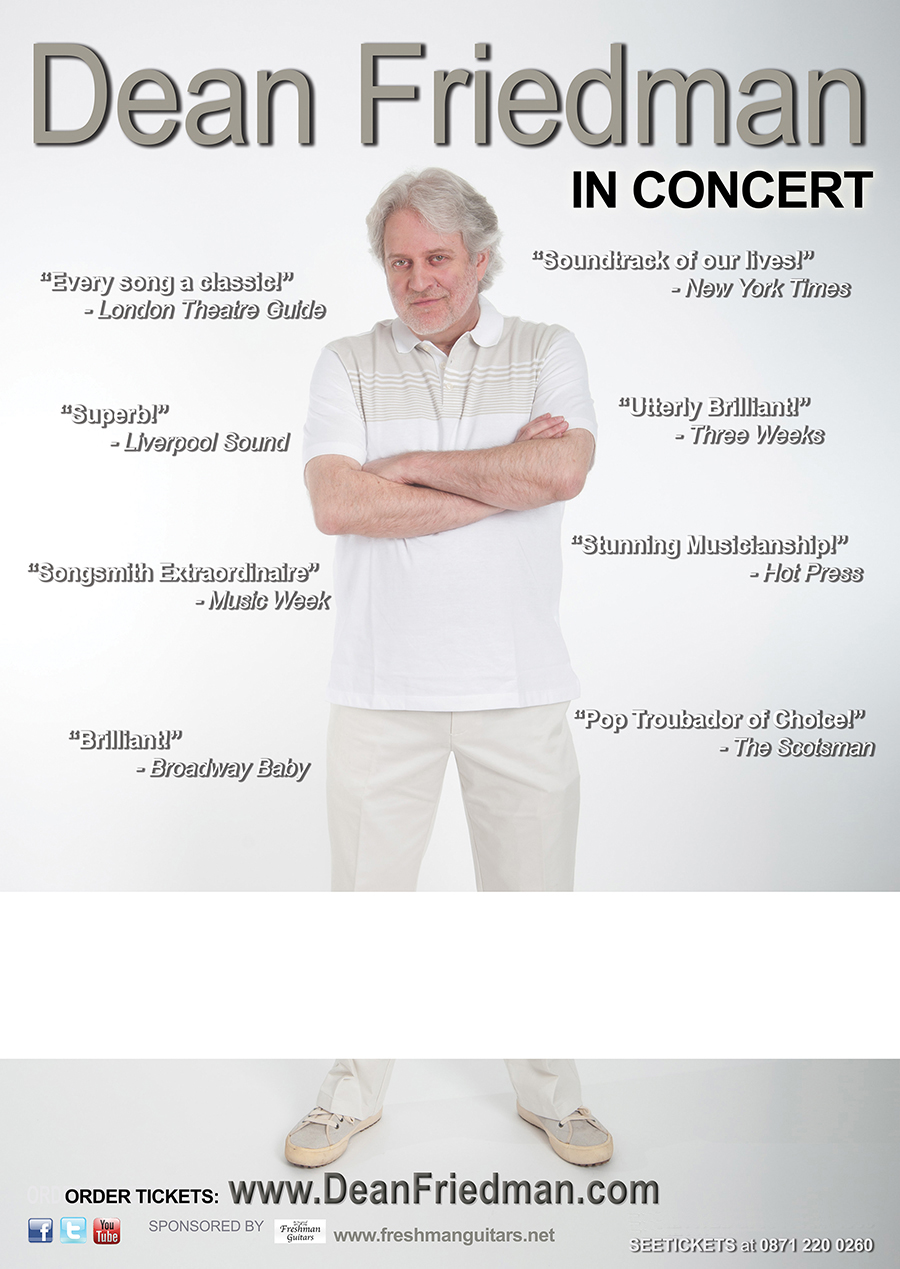 Dean Friedman Tour Poster